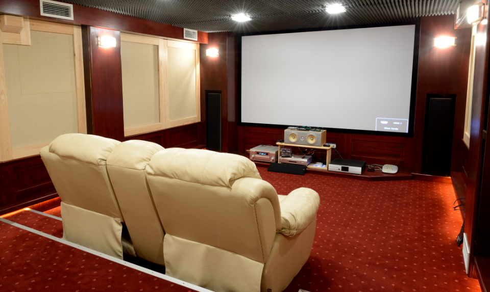 More people are choosing home cinemas over traditional movie houses.