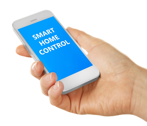 A smart home automation features remote control and monitoring.